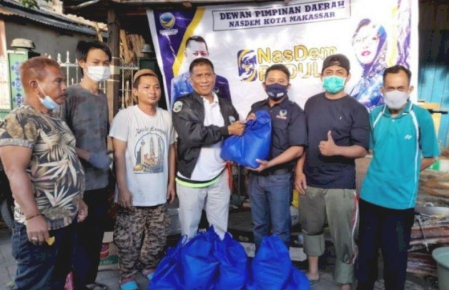 Nasdem Makassar  Peduli Terhadap Korban Kebakaran