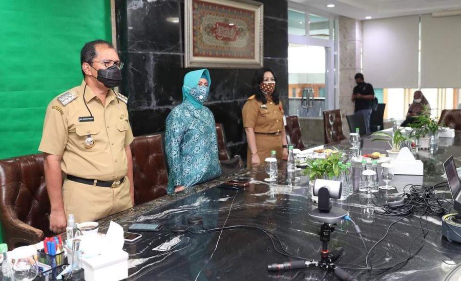 Walikota Makassar Buka MPLS Secara Virtual Via Zoom