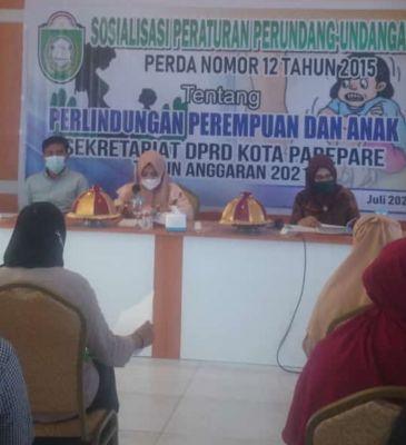 Anggota DPRD Kota Parepare Hj Hariani Sosialisasi perda