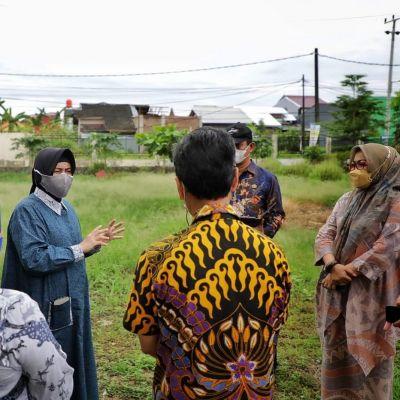 Bunda Paud Makassar Tinjau Lokasi Rencana Pembangunan Sekolah Standar Internasional