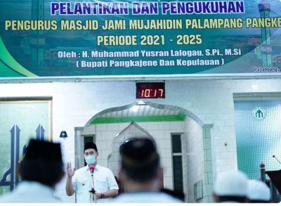 Bupati Pangkep Kukuhkan Pengurus Masjid Jami Mujahidin Palampang