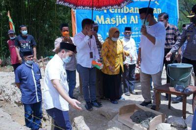 Ini Pesan Bupati Pangkep pada Peletakan Batu Pertama Pembangunan Masjid Al-Ikhlas
