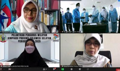 Naoemi Octarina Hadiri Pelantikan Pengurus Wilayah HIMPAUDI Sulsel