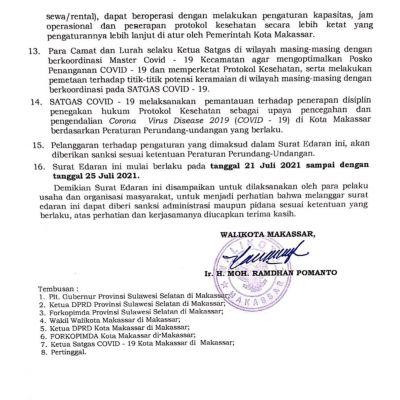 Pemkot Makassar Perpanjang PPKM