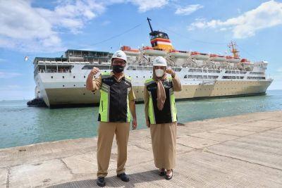 Pemkot Makassar Tinjau Kapal Pelni Tempat Isolasi Mandiri Pasien Covid-19