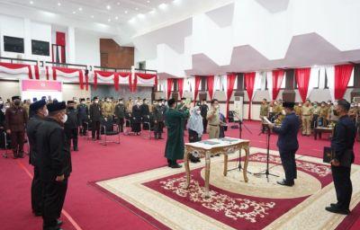 PLT Gubernur  Sulsel Andi Sudirman Sulaiman Lantik Jabatan Struktural Pemprov