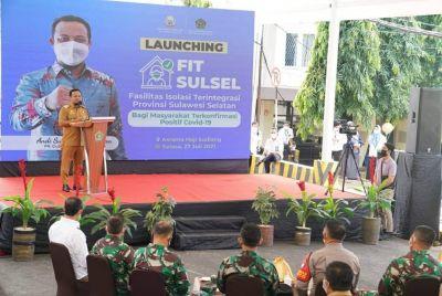PLT Gubernur Sulsel Melaunching Fasilitas Isolasi Terintegrasi