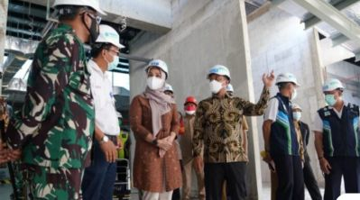 PLT Gubernur Sulsel Tinjau Pembangunan Perluasan Bandara Sultan Hasanuddin Makassar