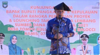 Wabup Pangkep Resmikan Taman Wisata Lembang Desa Tompo Bulu
