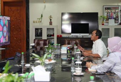 Wali Kota Makassar Menggelar Pertemuan Secara  Virtual Bersama IDI